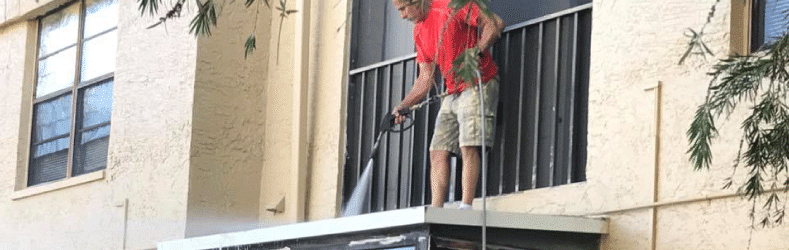 Power Cleaning Balcony